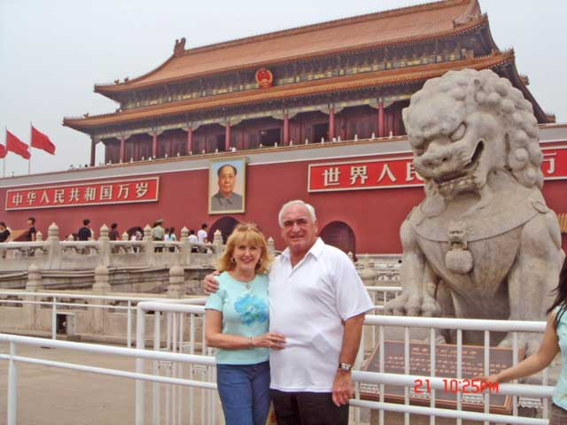 John and Yvonne Reynolds at Tiananmen Square, Beijing